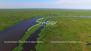 053 Epic river bayou drone aerial shot near lake pontchartrain Manchac swamp