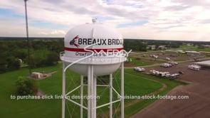 095 Breaux Bridge Louisiana water tower 1 aerial drone view