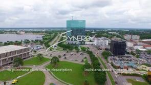 110 Nice aerial view downtown Lake Charles skyline