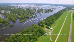 143 Dramatic aerial ascent to wide shot of epic Louisiana swamp