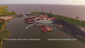 150 Epic awesome aerial view of construction site Louisiana coastal restoration effort