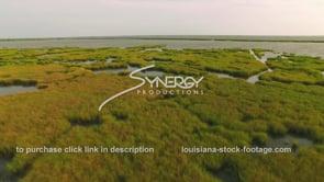 159 Nice aerial dolly out form eroding Louisiana coastal marsh