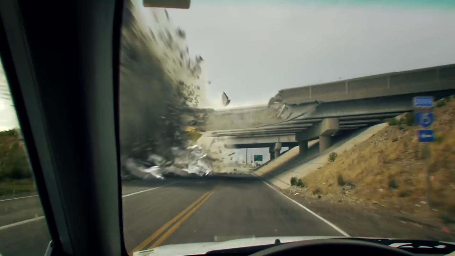 Bridge Explosion VFX - Syntheyes, Maya, Fusion