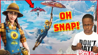Crazy Hang Glider Chase! You Won't BELIEVE THIS! - Fortnite Gameplay