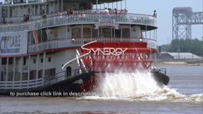 214 CU steamboat riverboat paddle wheel new orleans french quarter