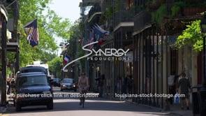 218 Lady on bike chartres street French Quarter Louisiana
