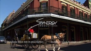 219 horse drawn carriage rounds corner in french quarter new orleans