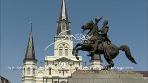 220 Jackson square catholic cathedral and andrew jackson statue