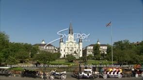 223 Tilt blue sky to Jackson square new orleans french quarter