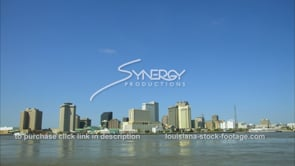 231 New Orleans skyline with negative space for graphics blue sky