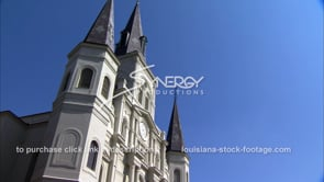 234 Pan blue sky St Louis catholic cathedral in french quarter