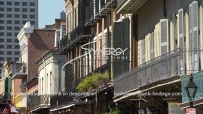 235 Nice pan across new orleans french quarter buildings architecture