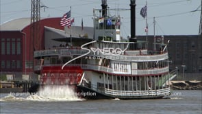 238 steamboat riverboat cruising Mississippi river near french quarter