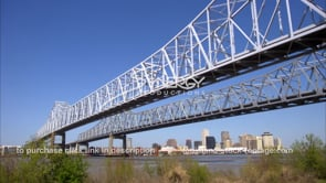 243 nice WS twin span bridges new orleans downtown skyline in bkg