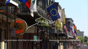 246 Tilt flags to busy french quarter street