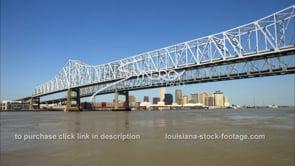 248 WS mississippi river twin span bridge new orleans skyline