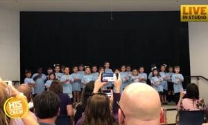 At Kindergarten Graduation Teachers Give Special Gift