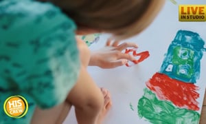 Proud Uncle Saved Nieces' Artwork for Special Day