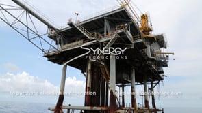 460 cu decommissioned oil gas platform low angle