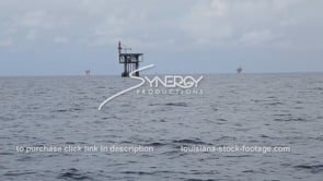 456 gulf of mexico oil gas platforms wide shot