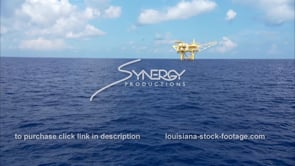 448 yellow oil gas platform Gulf of Mexico