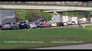 432 Heavy traffic in Baton Rouge stock footage video