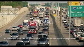 429 Baton rouge interstate 10 traffic stock video footage