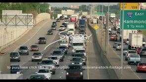 428 Baton Rouge interstate 10 traffic stock footage