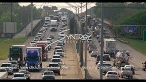 425 Epic Baton Rouge interstate traffic stock footage