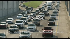 424 interstate traffic at 5 o'clock in baton rouge stock footage video