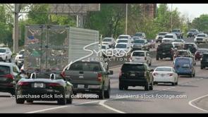 423 Epic interstate 10 traffic in Baton rouge Louisiana stock footage