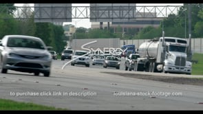 421 Interstate 10 and interstate 12 traffic stock footage video clip