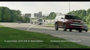 419 interstate 10 traffic in Baton Rouge Louisiana stock footage video