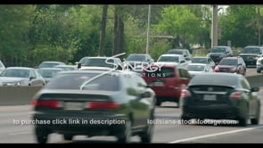 414 Stop and go Baton Rouge Traffic close up stock footage video
