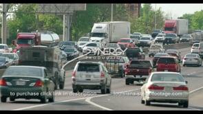 412 Crazy Baton Rouge Interstate Traffic tilt up stock footage video clip