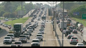 411 Baton Rouge interstate traffic stock footage video clip