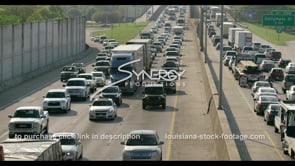 410 Epic stop and go Baton Rouge interstate traffic pan video stock footage