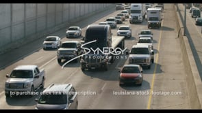 409 WS Major Baton Rouge interstate traffic pan right stock video footage