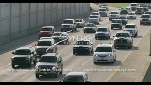 401 4 lanes of traffic in Baton rouge interstate 10 stock footage