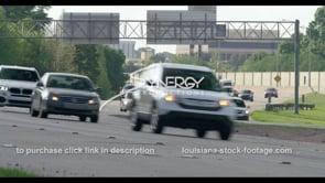 416 Heavy Baton Rouge traffic on interstate 10 interstate 12 stock video footage