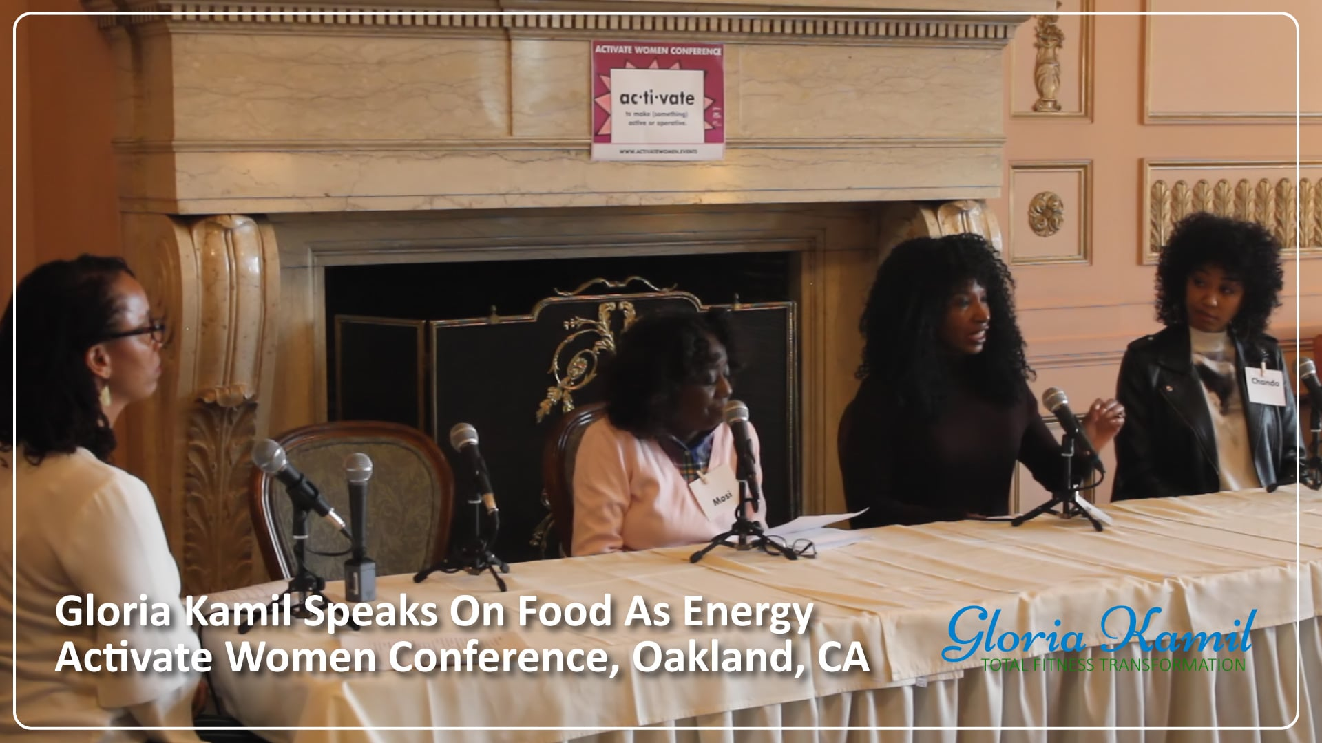 Gloria Kamil Speaks on Health Panel - Activate Women Conference - Oakland, CA