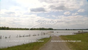 1299 Mississippi River flood water stock footage video