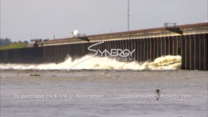 1303 raging rushing water from Morganza spillway opening video stock footage