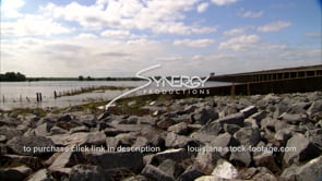 1304 flood water of morganza spillway opening stock video footage