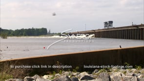 1305 morganza spillway opening raging Mississippi flood waters