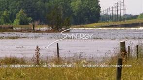 1310 Mississippi River flooding farmland video footage