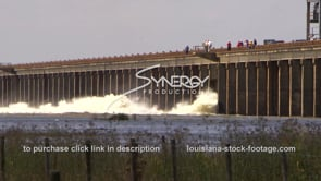 1311 Epic flood waters of Mississippi River at morganza spillway opening