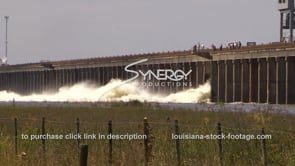 1312 Epic flood waters of morganza spillway opening video stock footage