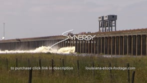 1314 morganza spillway flood gates opening from springtime flooding
