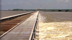 1335 bonne carre spillway releasing mississippi flood water into lake pontchartrain